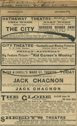 Brockton Daily Evening Enterprise – The American Vaudeville
